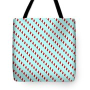 Barber Shop Wallpaper Tote Bag