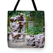 Barber Statue Tote Bag