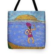 Barb's Beach Waving Tote Bag