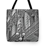 Barcelona Balconies In Black And White  Tote Bag