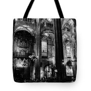 Barcelona Cathedral Interior Bw Tote Bag