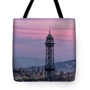 Barcelona Sunset Tote Bag