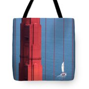 Barcode Of The Bay Scanned With Sails On A Beautiful Day Tote Bag