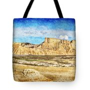Bardenas Desert Panorama 3 - Vintage Version Tote Bag
