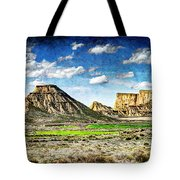Bardenas Desert Panorama 4 - Vintage Version Tote Bag