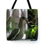 Bare Eyed Pigeon Tote Bag