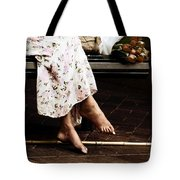 Barefoot And Tulips Tote Bag