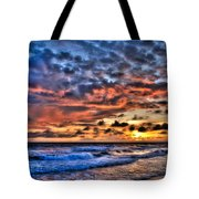Barefoot Beach Sunset Tote Bag