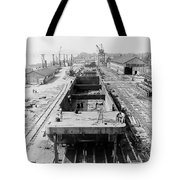 Barge Construction Tote Bag