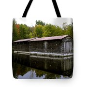 Barge House On The Erie Canal Tote Bag