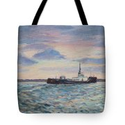 Barge On Port Phillip Bay Tote Bag