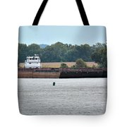 Barge On Tennessee River At Shiloh National Military Park Tote Bag