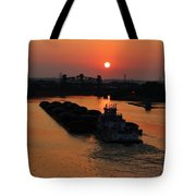 Barge On The Ohio. Tote Bag