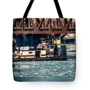 Barge Work With The Tug Tanner Tote Bag