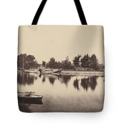 Barges At Oxford Tote Bag