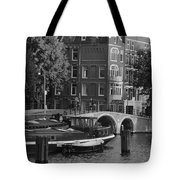 Barges By The Bridge Tote Bag