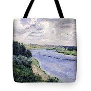 Barges On The Seine Tote Bag