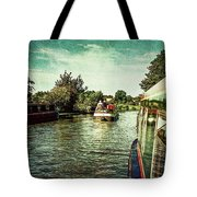 10946 Cruising On The Grand Union Canal Tote Bag