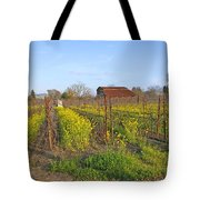 Barn Among The Wild Mustard Tote Bag