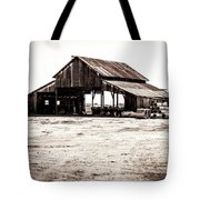 Barn And Irrigation Pipes Tote Bag