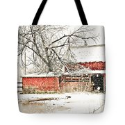 Barn And Pond Tote Bag