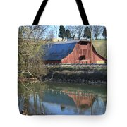 Barn And Reflections Tote Bag