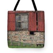 Barn And Sheep Tote Bag
