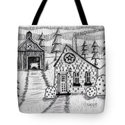 Barn And Sheep Tote Bag