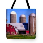Barn And Silos Hawaiian Chapel Effect Tote Bag