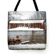 Barn And Tractor Tote Bag