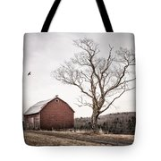 barn and tree - New York State Tote Bag