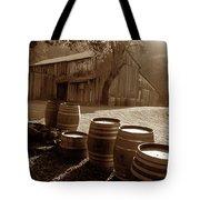 Barn And Wine Barrels 2 Tote Bag by Kathy Yates