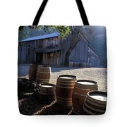 Barn And Wine Barrels Tote Bag by Kathy Yates