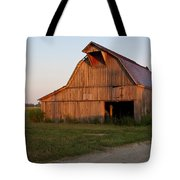Barn At Early Dawn Tote Bag by Douglas Barnett