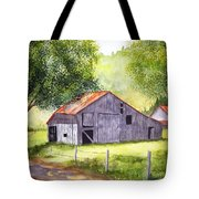 Barn By The Road Tote Bag