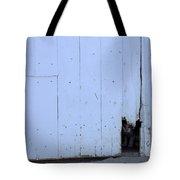 Barn Cat Hello Tote Bag