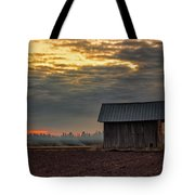 Barn House On The Burning Field Tote Bag