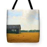 Barn In A Field  Tote Bag