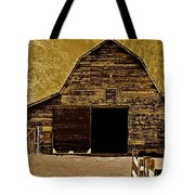 Barn In Sepia Tote Bag