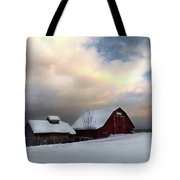 Barn In Solitude Tote Bag