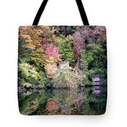 Barn In The Mirror Tote Bag