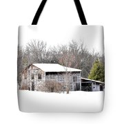 Barn In The Woods Tote Bag