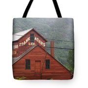 Barn In Vermont Along Amtrack Tote Bag
