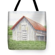 Barn Near Forest Tote Bag