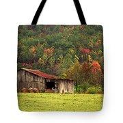 Barn North Carolina 1994 Tote Bag by Michelle Wiarda