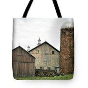 Barn On The Georgia Shore Road Tote Bag