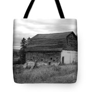 Barn On The River Flat Tote Bag