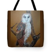 Barn Owl On Tree Tote Bag