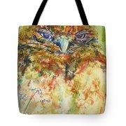 Barn Owl Thinking Tote Bag