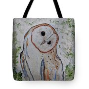 Barn Own Impressionistic Painting Tote Bag